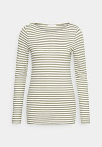 Marc O'Polo - LONG SLEEVE - Long sleeved top - multi/dried sage - 4