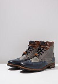 Bugatti - MARCELLO - Lace-up ankle boots - dark blue/grey - 2