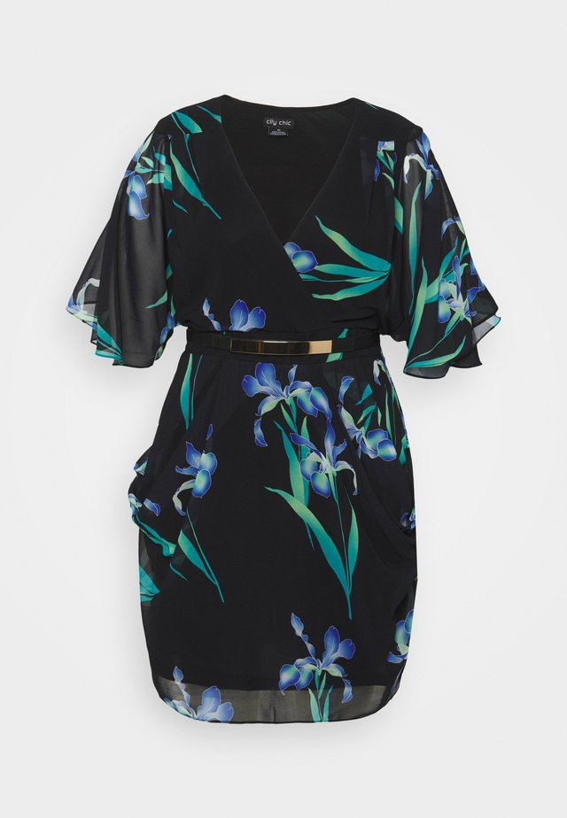 DRESS WRAP - Korte jurk - winter iris