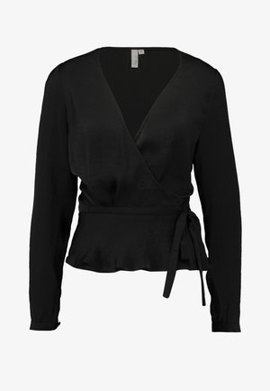 LOVELY WRAP BLOUSE - Blouse - black