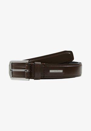 STITCHED BOMBED BELT - Belt - brown