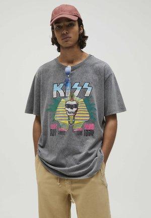 KISS SPHINX - T-shirt con stampa - dark grey