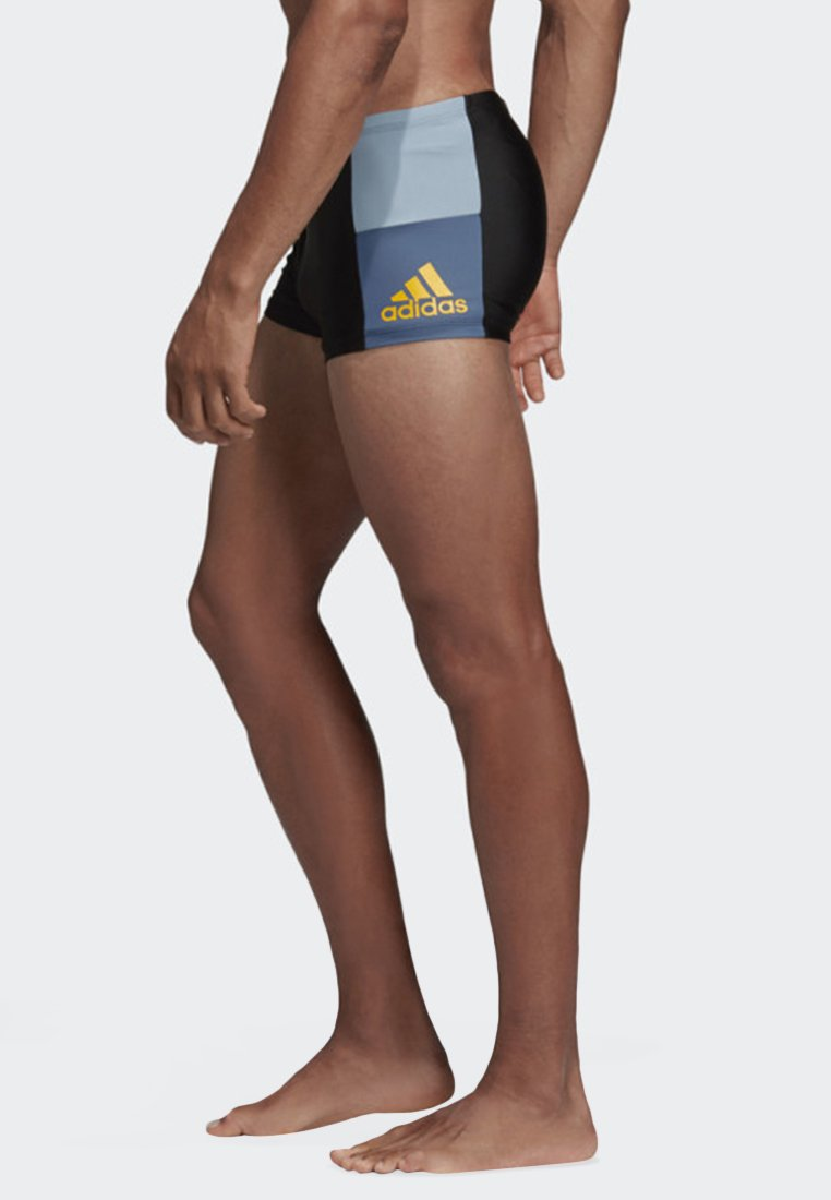 adidas Performance - FITNESS COLORBLOCK SWIM BOXER - Swimming trunks - black