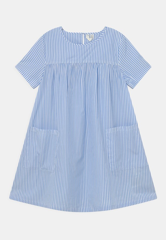 DRESS - Day dress - blue/white
