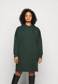 Even&Odd Curvy - Day dress -  dark green - 0