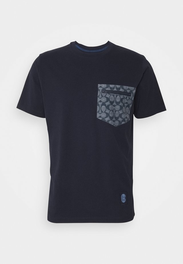 T-shirt print - navy/chambray