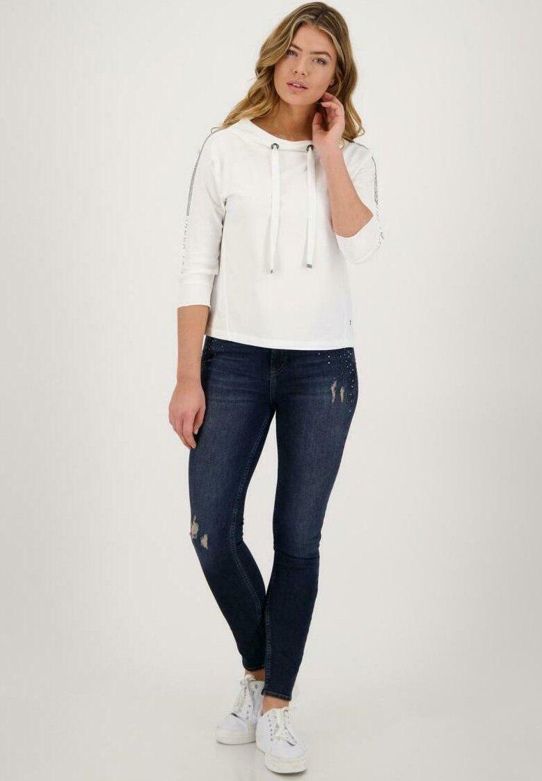 Monari - MIT STRASSÄRMEL - Sweatshirt - off white