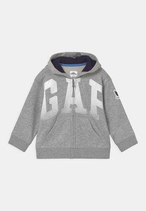 ARCH HOOD - Felpa aperta - light heather grey
