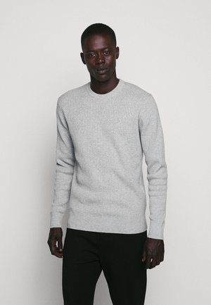 ANDY SEMI STRUCTURE - Stickad tröja - light grey melange