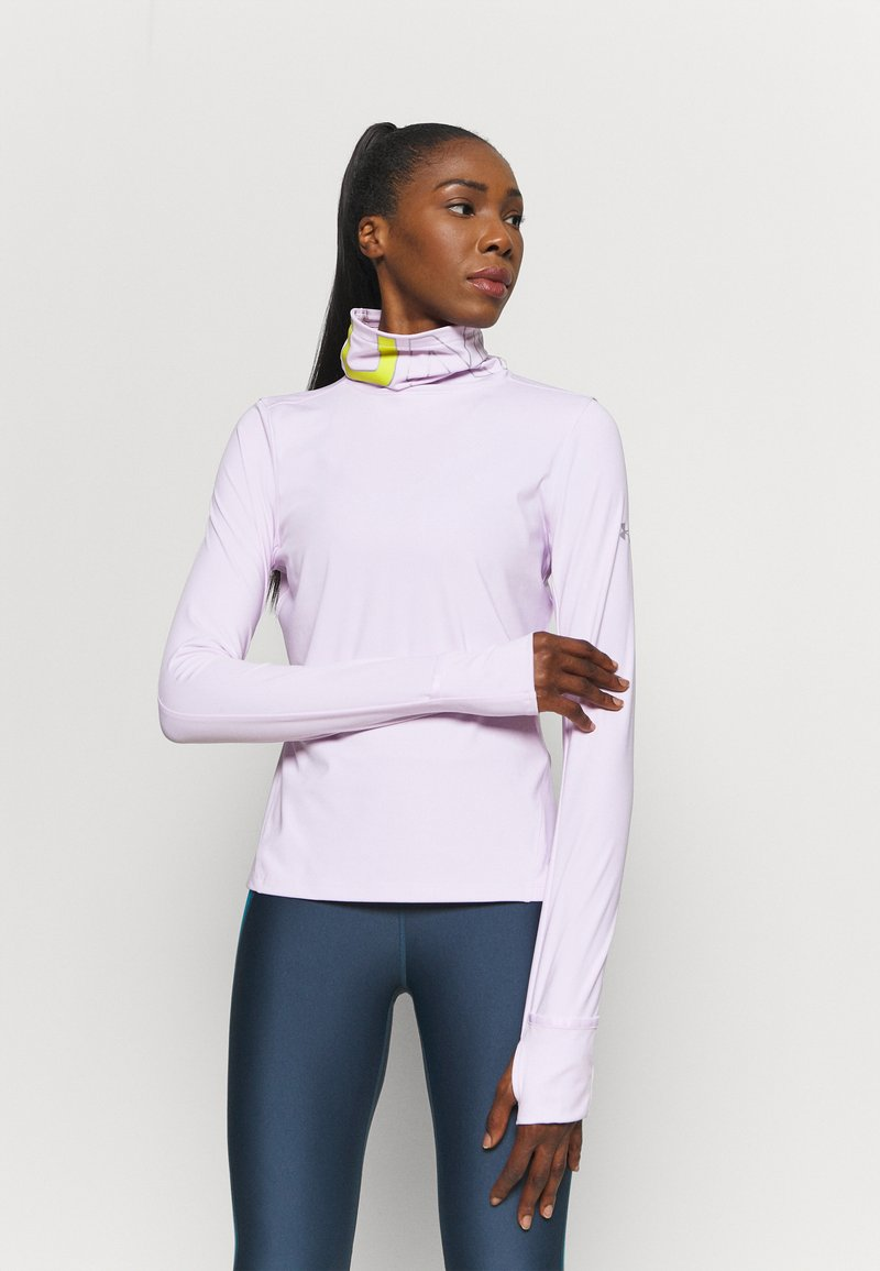 Under Armour - IGNIGHT COLDGEAR FUNNEL - Long sleeved top - crystal lilac