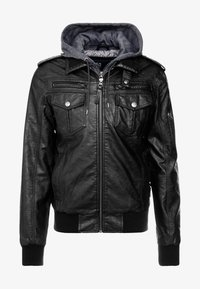 INDICODE JEANS - ULLE - Faux leather jacket - black - 5