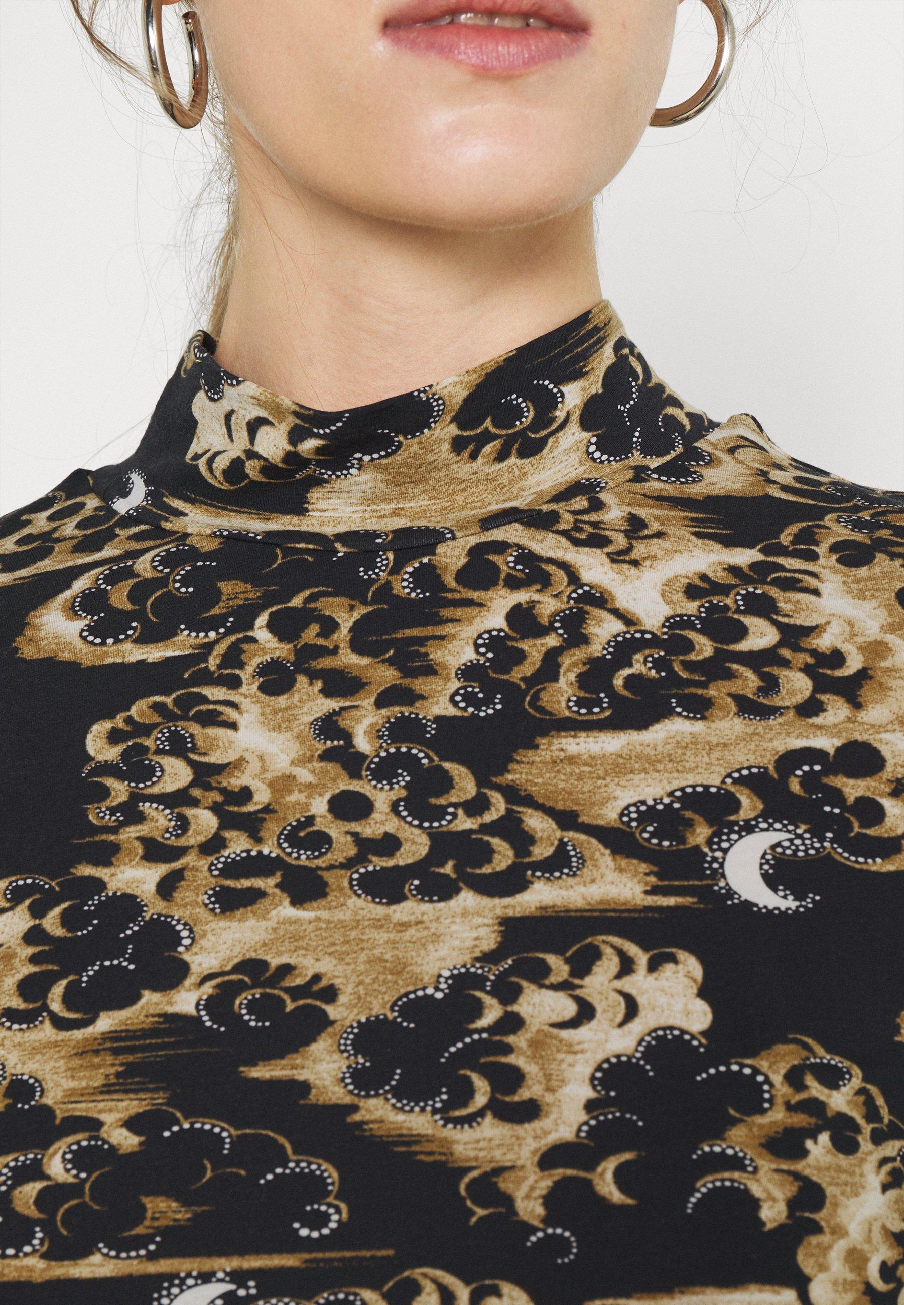 Women PRINTED LONG SLEEVED HIGH NECK - Long sleeved top