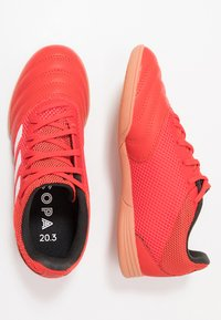 adidas Performance - COPA 20.3 IN SALA - Indoor football boots - active red/footwear white/core black - 0