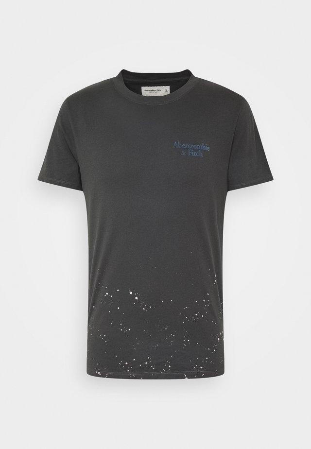 LOGO BACK  - Print T-shirt - black