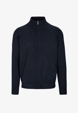 Zip-up sweatshirt - blue navy mel