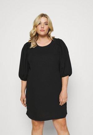 PUFF SLEEVE SHIFT DRESS - Robe d'été - black