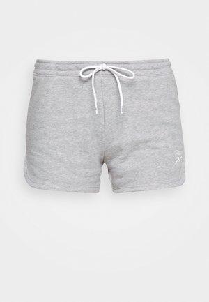 FRENCH TERRY SHORT - Sportovní kraťasy - medium grey heather/white