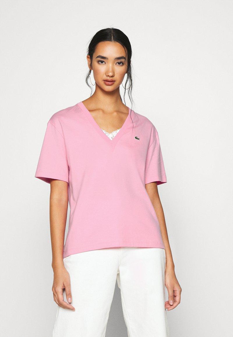 Lacoste - T-shirt basic - rosatre