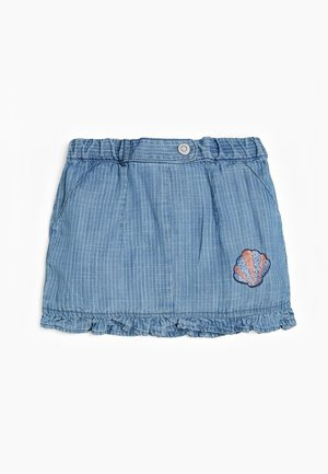 GONNA INDACO - Denim skirt - blu multi