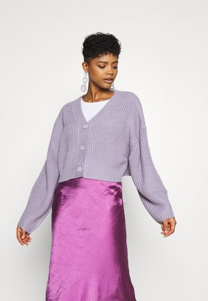 ELI CARDIGAN - Cardigan - lilac purple dusty light