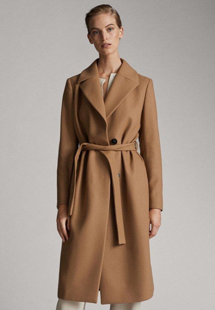 Massimo Dutti - Classic coat - brown
