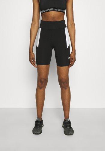 REBEL SHORT - Leggings - black