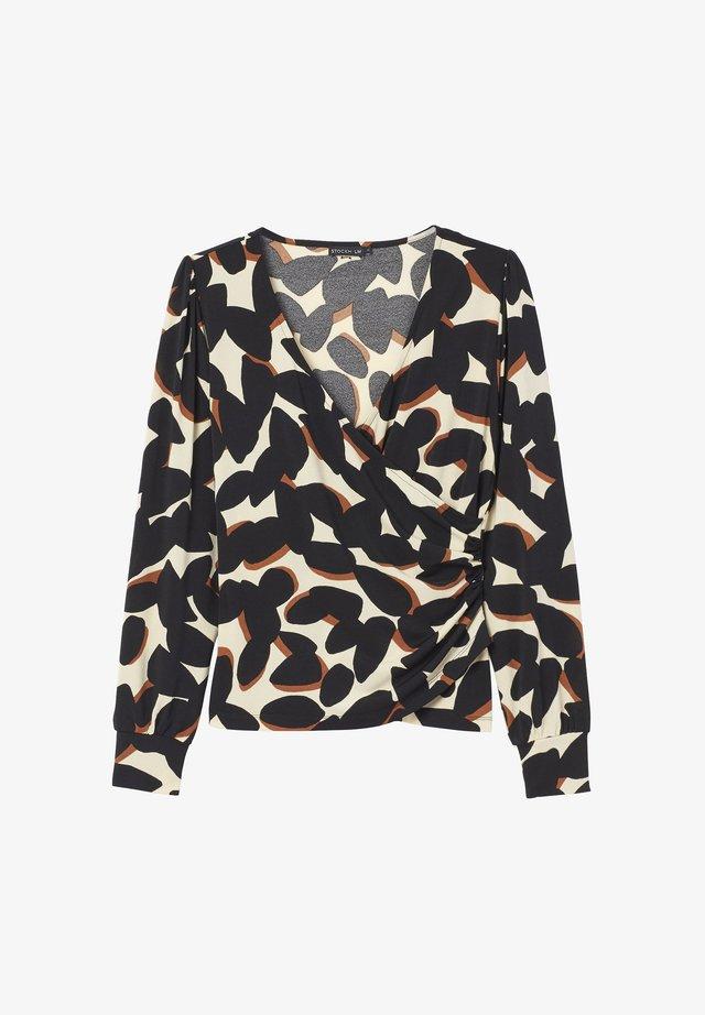 FELICIA  - Long sleeved top - black/off-white