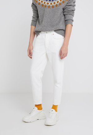 BEN - Jean droit - tinted white distressed