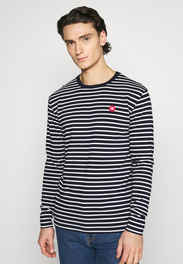 MEL LONG SLEEVE - T-shirt à manches longues - navy/off-white