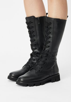 Lace-up boots - cervo black