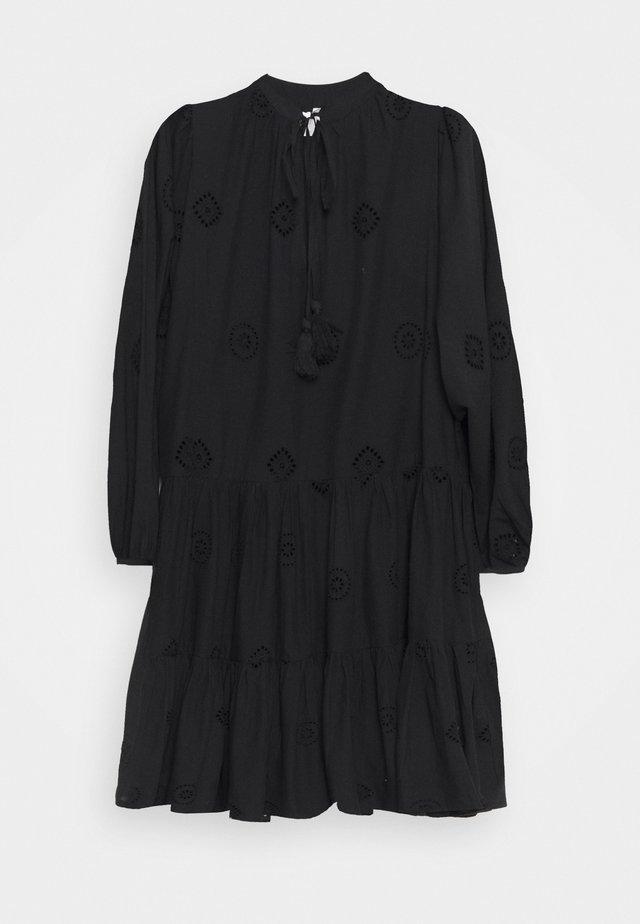 BORA BORA FLORA EMBROIDERY TIERED DRESS - Strandaccessories - black