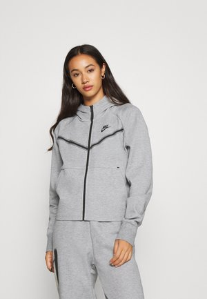 Sweatjacke - dk grey heather/black