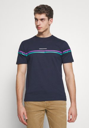 BUTLER EMBROIDERY - Print T-shirt - navy