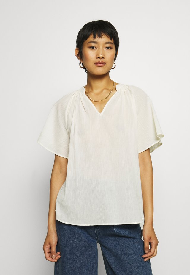 BRIDGE BLOUSE - Bluzka - antiqwhite