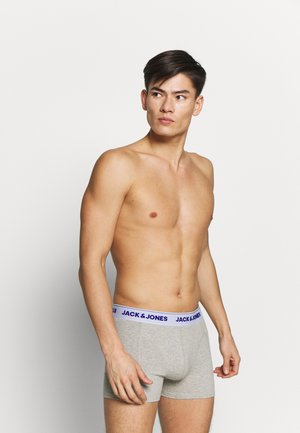 JACSUPER TWIST TRUNKS 3 PACK - Pants - light grey melange/lapis blue