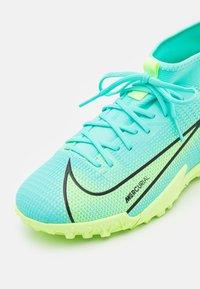 Nike Performance - MERCURIAL 8 ACADEMY TF UNISEX - Astro turf trainers - dynamic turq/lime glow - 5