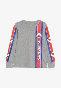 Converse - OVERSIZE SPORT STRIPE - Top sdlouhým rukávem - dark grey heather - 2