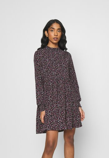 JDYPIPER SHORT DRESS - Day dress - black/pink