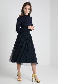 Lace & Beads Petite - MERLIN SKIRT - A-line skjørt - navy - 1