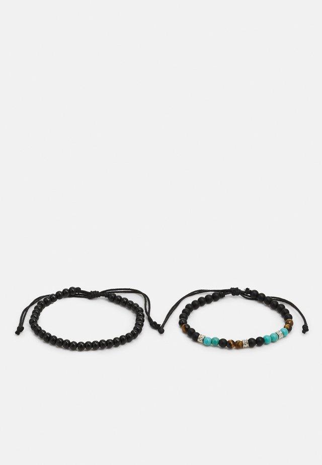 BARDSEA 2 PACK - Náramek - black/turquoise/brown