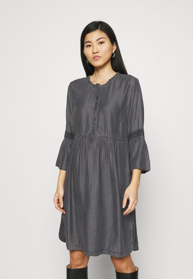 LUSSA DRESS - Denim dress - black wash