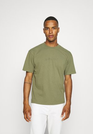 KATAKANA EMBROIDERY UNISEX  - Basic T-shirt - martini olive