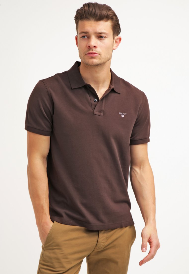 GANT - THE ORIGINAL RUGGER - Polo - dark brown