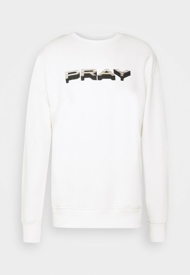 STATICLONG SLEEVE UNISEX - Zip-up hoodie - white