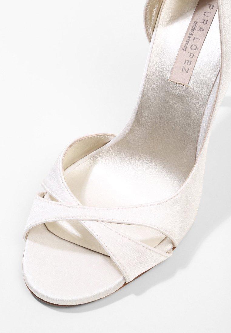 Pura Lopez Talons hauts à bout ouvert - seda goya bone - Chaussures à talons femme Limité