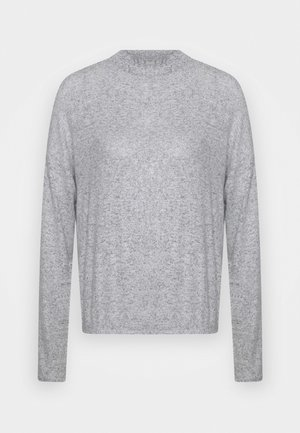 Strikpullover /Striktrøjer - mottled light grey
