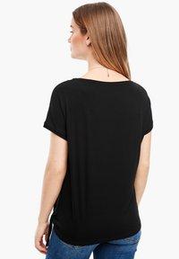 s.Oliver - KURZARM - Basic T-shirt - black - 2
