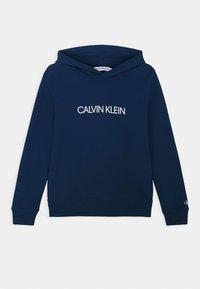 Calvin Klein Jeans - INSTITUTIONAL - Felpa con cappuccio - blue - 0