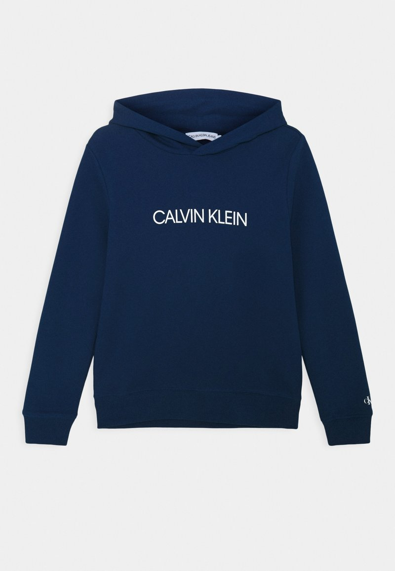 Calvin Klein Jeans - INSTITUTIONAL - Felpa con cappuccio - blue