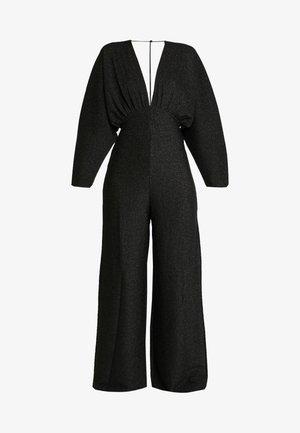 DEEP V NECK BATWING - Jumpsuit - black